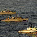 A Convoy Of Naval Ships Move by Stocktrek Images