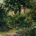 A Corner Of The Garden In Rueil by Edouard Manet