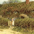 A Cottage At Freshwater Isle Of Wight by Helen Allingham