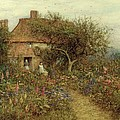 A Cottage Near Brook Witley Surrey by Helen Allingham