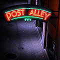 A Dark And Lonely Post Alley - Seattle  by Gary Whitton