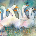 A Disorderly Group Of Geese by Arline Wagner