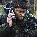A Dutch Patrol Commander Communicates by Andrew Chittock