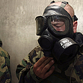 A Field Radio Operator Clears Cs Gas by Stocktrek Images