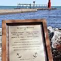 A Fisherman's Prayer At Algoma Lighthouse by Mark J Seefeldt