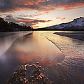 A Frozen Straumen Lake On Tjeldoya by Arild Heitmann