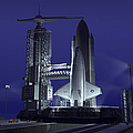 A Futuristic Space Shuttle Awaits by Walter Myers