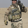 A German Soldier Carries A Barrett by Terry Moore