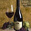 A Glass Of Pinot by Mel Felix
