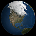 A Global View Over North America by Stocktrek Images