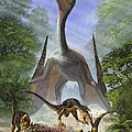 A Group Of Balaur Bondoc Dinosaurs by Sergey Krasovskiy
