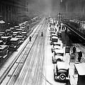 A Heavy Snowfall, 42nd Street, Looking by Everett