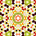 A Kaleidoscope Image Of Fresh Fruit by Andrew Bret Wallis