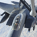 A Kc-135 Stratotanker Refuels An F-15e by Stocktrek Images