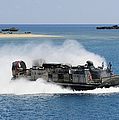A Landing Craft Air Cushion Approaches by Stocktrek Images