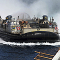 A Landing Craft Air Cushion Transits by Stocktrek Images