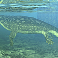 A Late Devonian Period Ichthyostega by Walter Myers