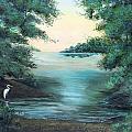 A Lone Egret by Rita Smith