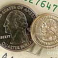 A Magnetically Shrunken Quarter by Ted Kinsman
