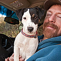 A Man And His Puppy In Wv by Kathleen K Parker
