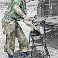 A Man And His Trade - Farrier Art Print Color Tinted by Kelli Swan