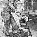 A Man And His Trade - Farrier Art Print by Kelli Swan