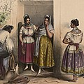 A Man And Three Women From Puebla by Everett