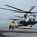 A Marine Mh-53 Helicopter Takes by Stocktrek Images