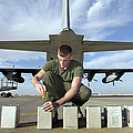 A Marine Replaces Flares In Flare by Stocktrek Images