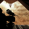 A Marine Waits For Dust To Clear While by Stocktrek Images
