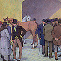 A Morning At Tattersall's by Robert Polhill Bevan