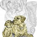 A Mothers Love - Labrador Dog Print Color Tinted by Kelli Swan