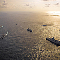 A Multi-national Naval Force Navigates by Stocktrek Images