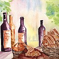 A Nice Bread And Wine Selection by Sharon Mick