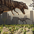 A Pair Of Tyrannosaurus Rex Explore by Mark Stevenson