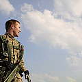 A Paratrooper Looks On As Other by Stocktrek Images