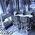 A Parisian Sidewalk Cafe In Blue by Jennifer Holcombe