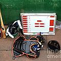 A Peak Into The Dugout During A Baseball Game by Yali Shi