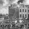 A Pro-slavery Mob Burning by Everett
