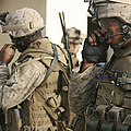 A Radio Operator Helps A Platoon by Stocktrek Images