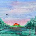 A Rainy Misty Sunrise by Arlene  Wright-Correll