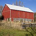 A Red Barn by Wayne Stabnaw