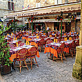 A Restaurant In Sarlat France by Dave Mills