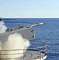 A Rim-7 Sea Sparrow Is Launched by Stocktrek Images