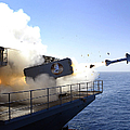 A Rim-7 Sea Sparrow Missile Launches by Stocktrek Images