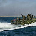 A Riverine Command Boat During Exercise by Stocktrek Images