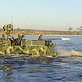 A Riverine Squadron Maneuvers by Stocktrek Images