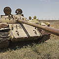 A Russian T-55 Main Battle Tank by Terry Moore