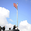 A Sailor Raises The First Navy Jack by Stocktrek Images