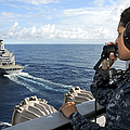 A Sailor Stands Forward Lookout Watch by Stocktrek Images